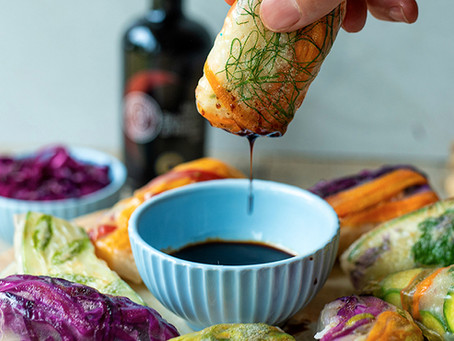 SPRING ROLLS WITH VEGETABLES AND RICE