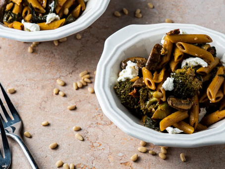 Easy Weeknight Balsamic and Goat Cheese Pasta