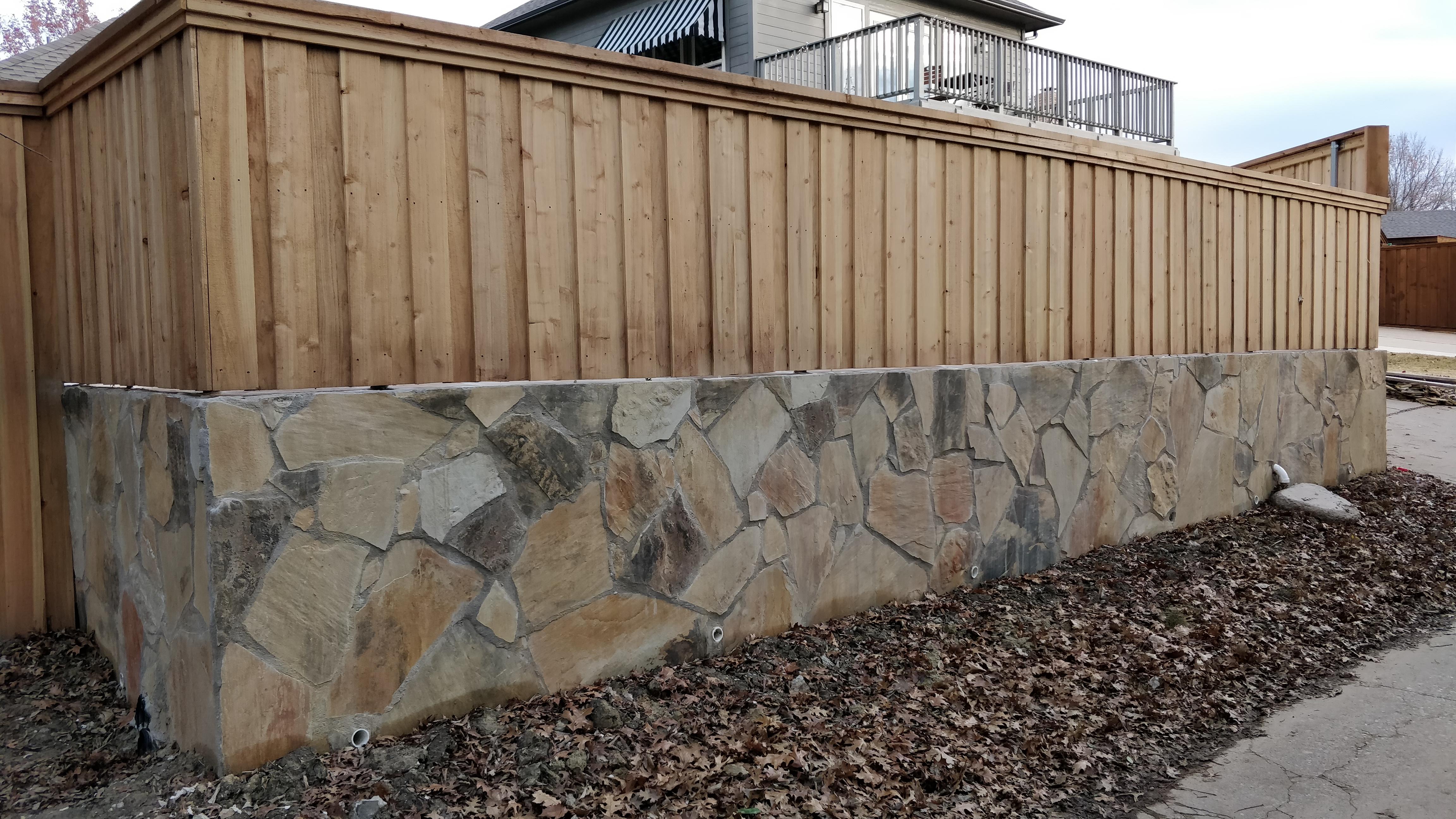 Retaining Wall/Fence - Rockwall, TX