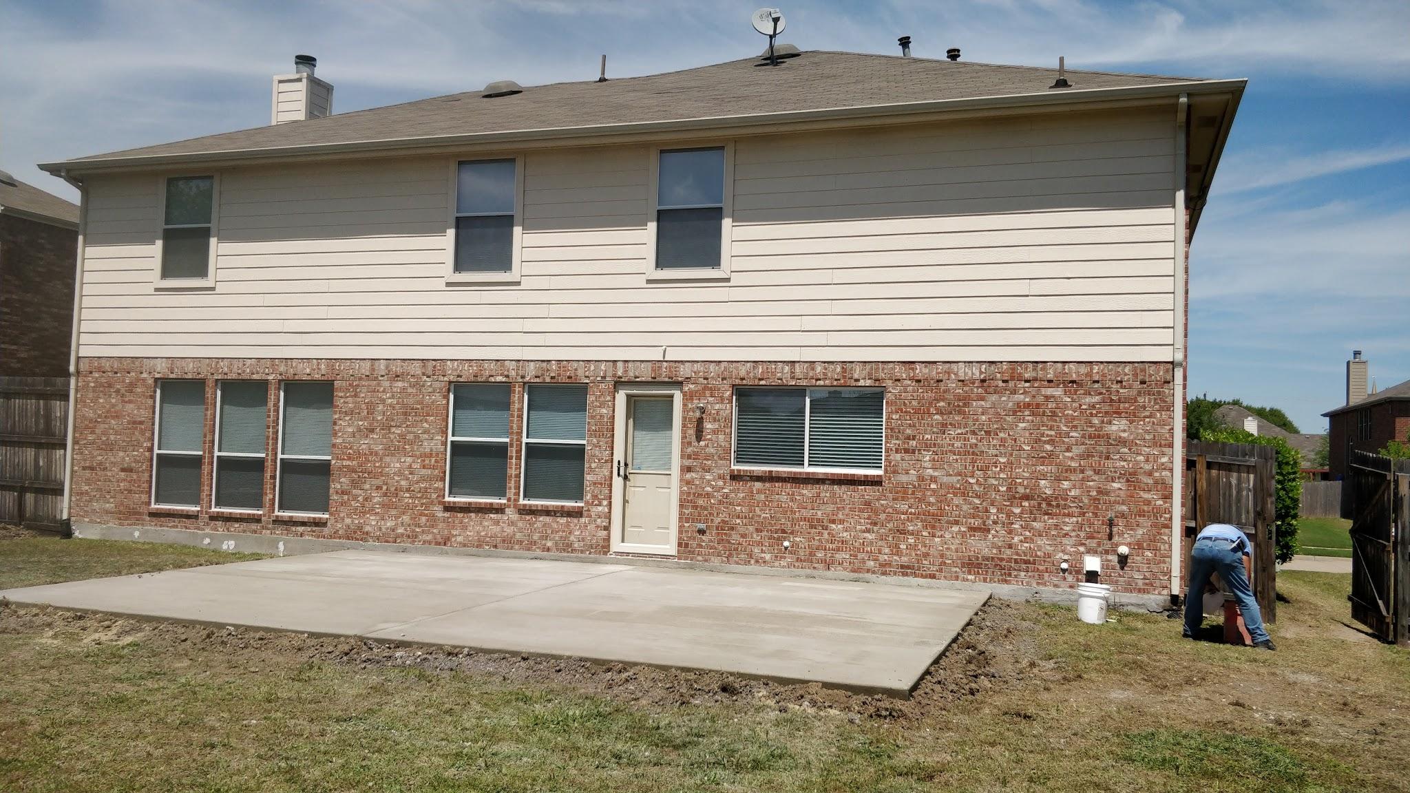 New Concrete Patio - Forney, TX