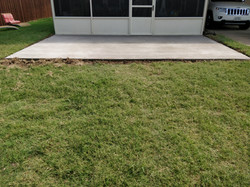 New Concrete Patio - Mesquite, TX