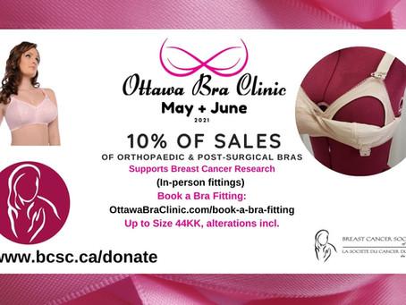 News! Breast Cancer Society of Canada & Ottawa Bra Clinic