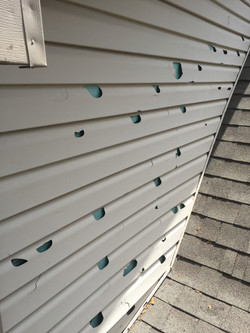 Hail Damage to Home