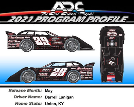Darrell Lanigan KY. #29 2021 (Preorder)