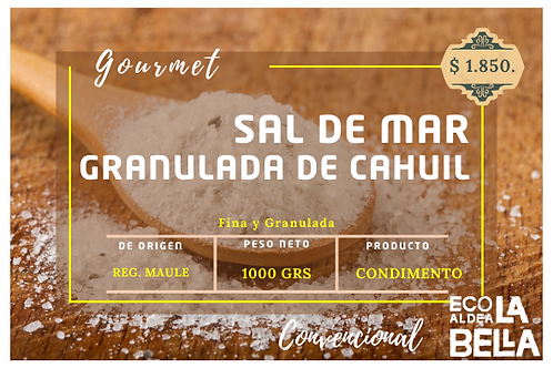 Sal de mar de Cahuil 1000gramos Dis