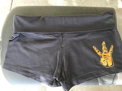 charcoal gray/Gold shorts