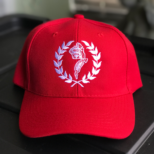 Curved lids logo strap backs