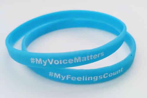 #MyVoiceMatters Rubber Bracelet