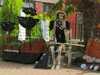 Ahoy Me Harties, Pirate Themed Scarecrows Appear For Hale Carnival