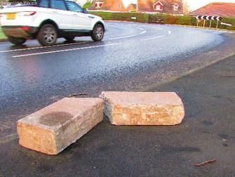 Concrete Lintel In Road