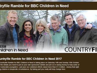 Hale Village - Countryfile Ramble For BBC Children In Need October 15th, 2017
