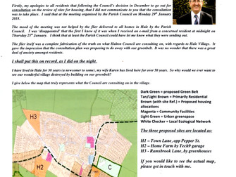 February Edition - Hale Rose News Letter Addresses Greenbelt Review