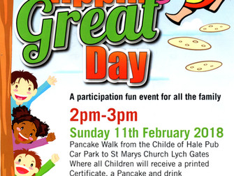 The Hale Village Pancake Race Sunday 11th February