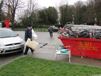 Hale Community Recycling Skip Scheme Helps Villagers Dispose Of Unwanted Rubbish
