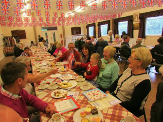 V.E. Day Afternoon Tea In The Village Hall.