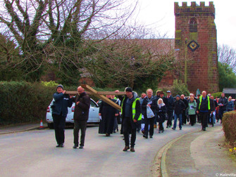Hale Village Easter Cross Walk of Witness Procession