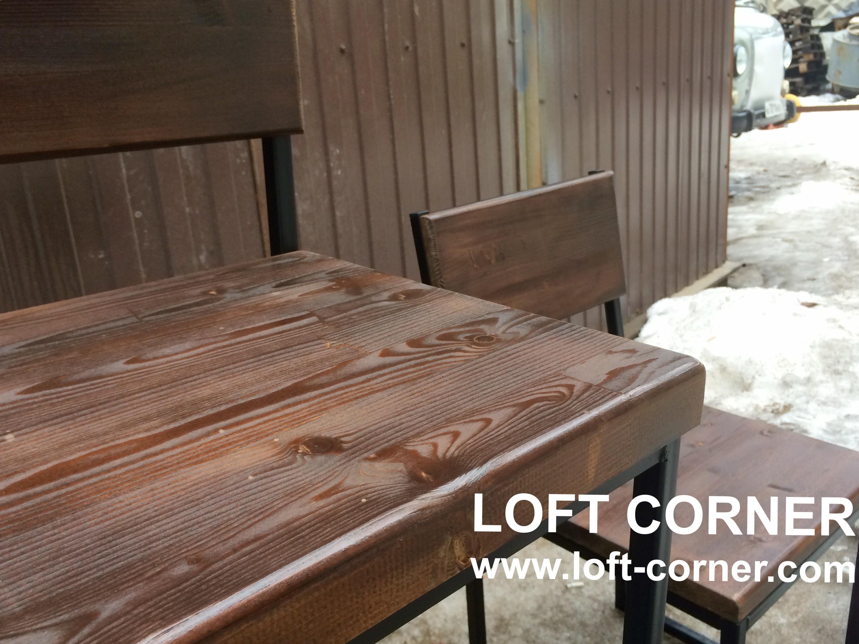 Барная мебель индастриал лофт, ресторанная мебель, производство мебели лофт, барные столы
