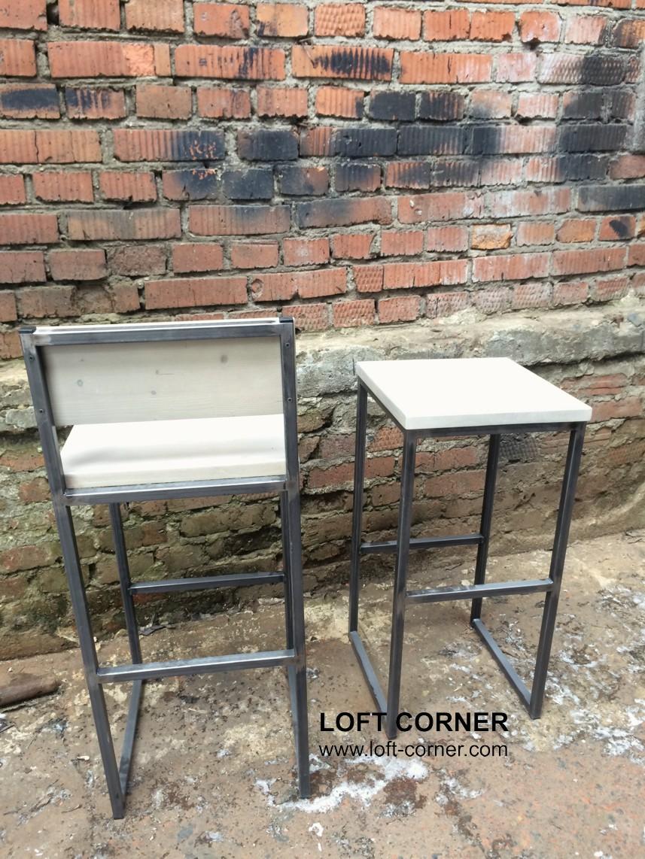 Высокий стул и табурет для бара лофт, мебель лофт производство, барная мебель, мебель для ресторана,