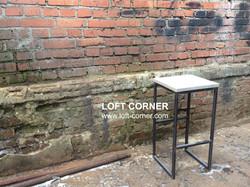 Барный табурет лофт модель Light, барный стул из стали и дерева в стиле лофт, мебель лофт купить, ин