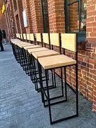 Барный стул со спинкой лофт, ресторанная мебель лофт, производство ресторанной мебели лофт индастриал