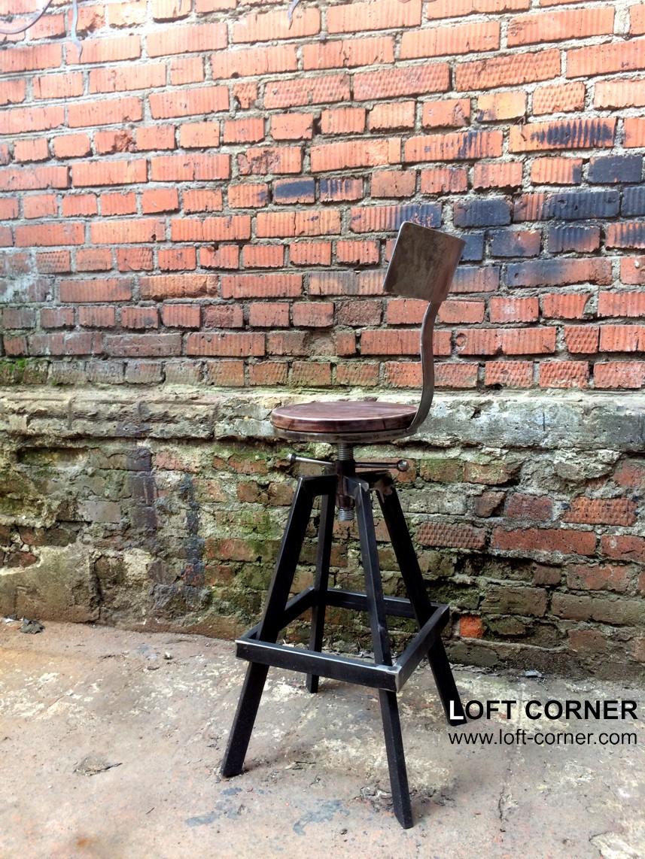 Дизайнерский стул, барный стул лофт, мебель лофт, лофт интерьер, высокий стул