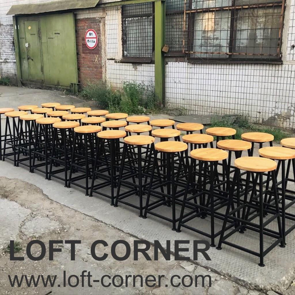 Барные стулья в стиле лофт, производство любого количества на заказ, барные табуреты лофт оптом, бар