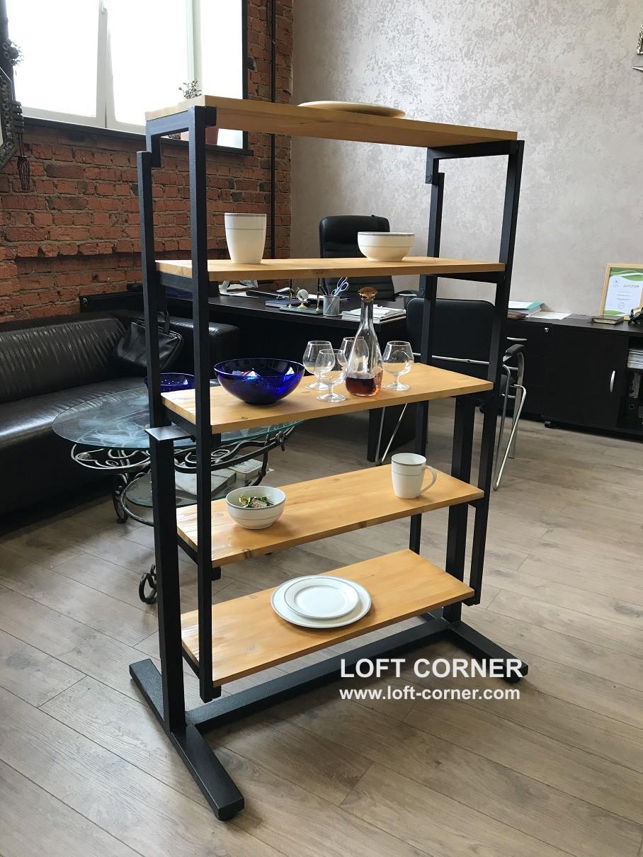 Стол-стеллаж, стол лофт, стеллаж лофт, стол-трансформер, компактная мебель лофт, производство мебели