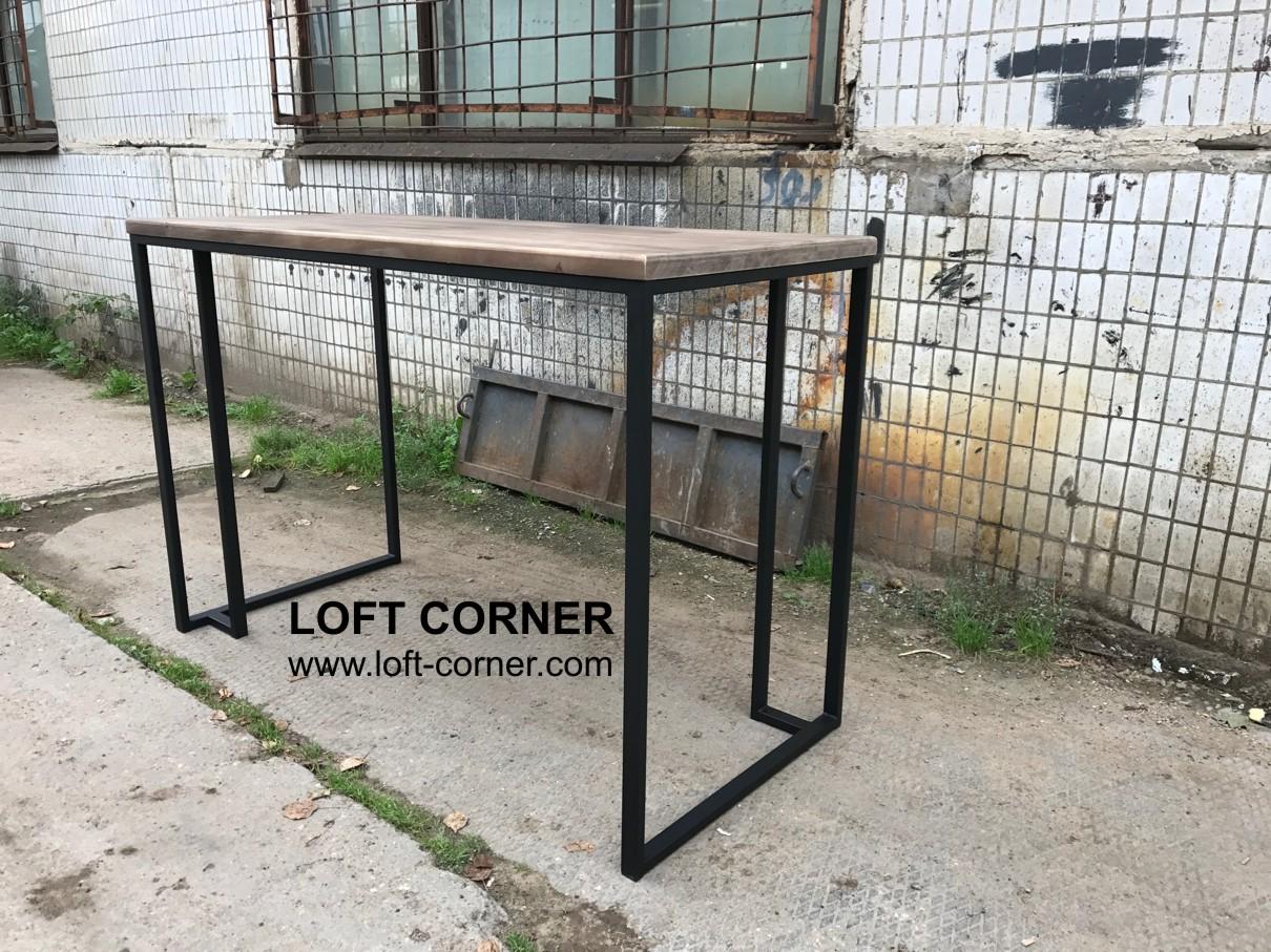 Барный стол в стиле лофт, большой стол для бара, барная мебель лофт, мебель кафе лофт, мебель для ре
