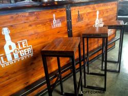 Барный стул в стиле индастриал лофт для бара ресторана кафе LC#1