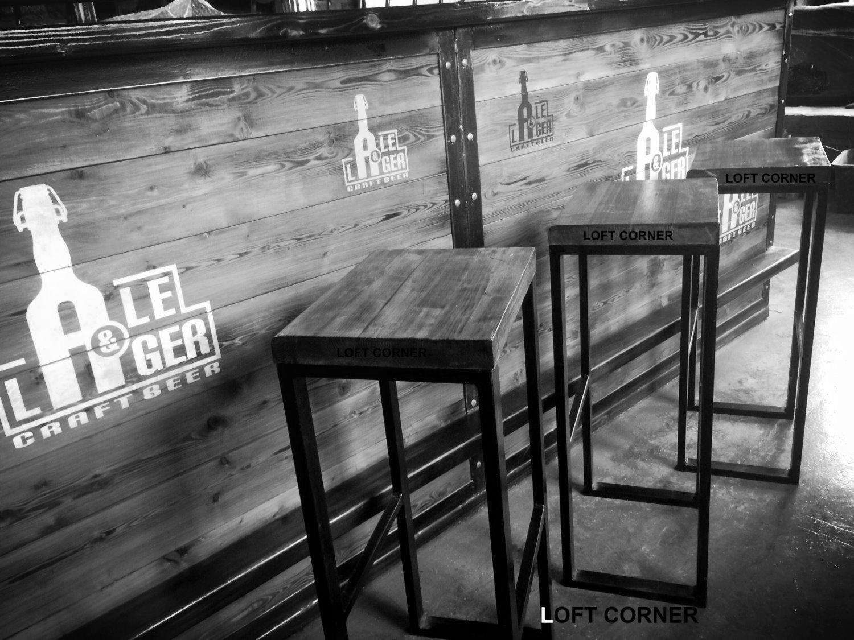 Барные стулья лофт, индастриал
