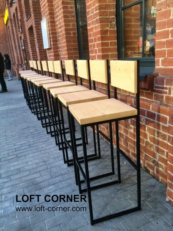 Барная мебель, барные стулья лофт, мебель в стиле лофт для баров и ресторанов, кафе мебель, стул бар