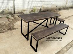 Стол для ресторана, мебель лофт, стол кафе, столы для ресторана, стол стиль лофт, стол для хостела л