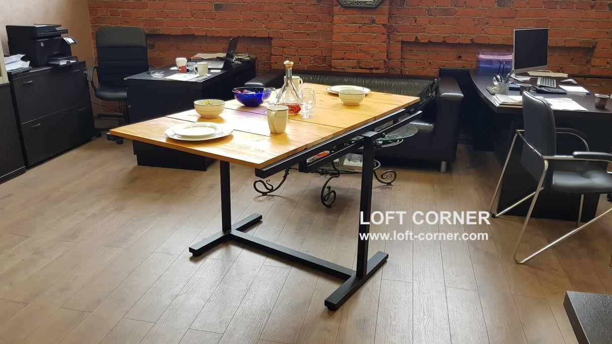 Стол-трансформер лофт, стол-стеллаж
