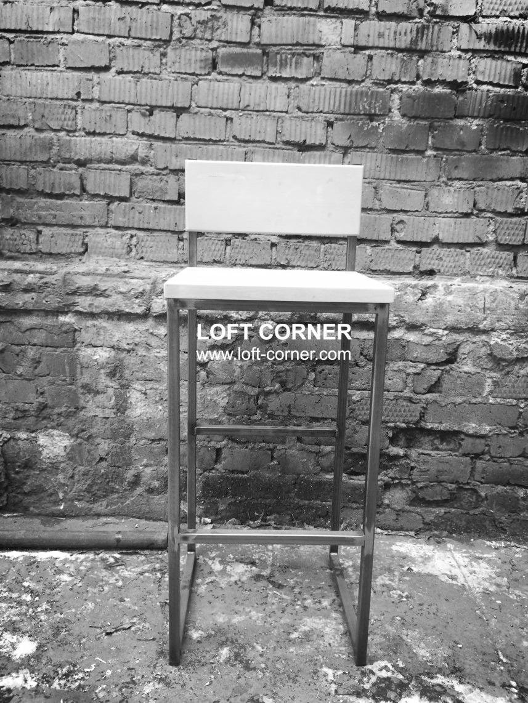 Стул барный со спинкой лофт, мебель лофт для бара, кафе, ресторана, мебель лофт производство в Москв