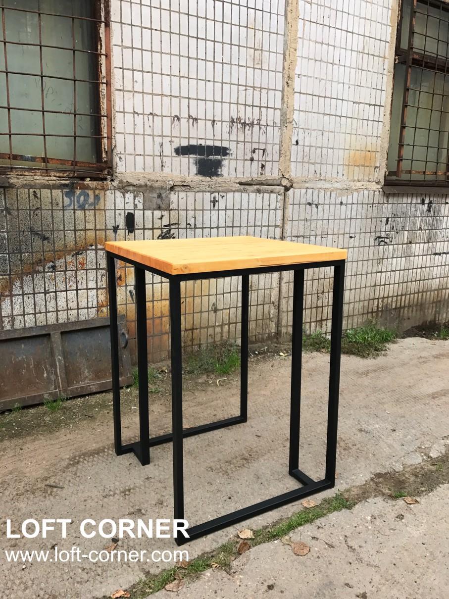 Барный стол лофт, производство мебели в стиле лофт в Москве, барные стойки лофт, барный стул лофт, м