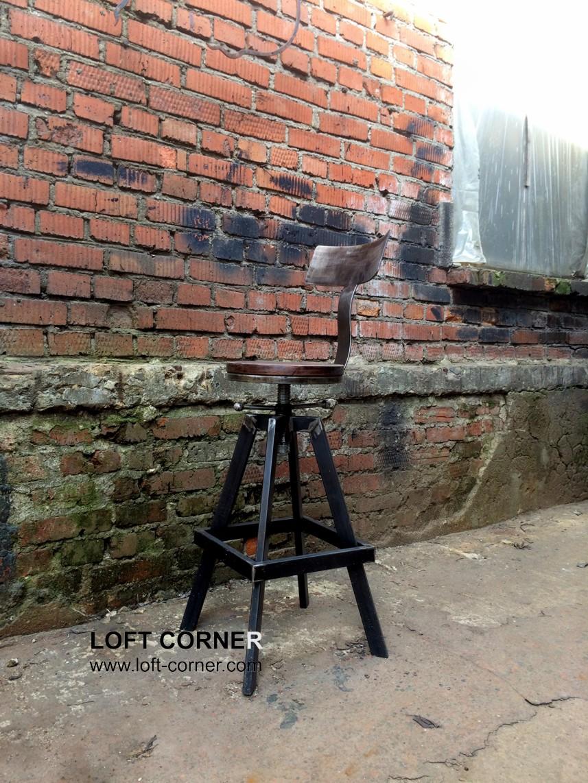 Стул в стиле лофт, дизайнерский стул, барный стул лофт, купить необычный стул