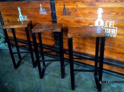 Барный стул в стиле индастриал лофт для бара ресторана кафе #1