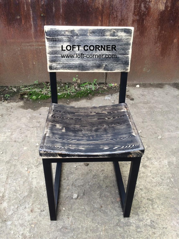 Удобный стул с выемкой лофт, мебель лофт на заказ, стул лофт для бара, стул для кафе, стул для ресто