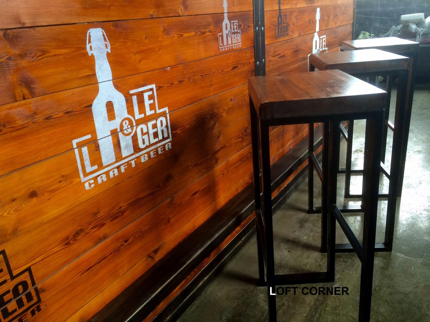 Барный стул в стиле индастриал лофт для бара ресторана кафе
