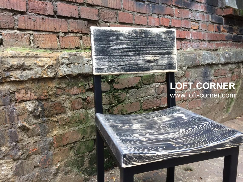 Стул лофт с выемкой и оригинальной шлифовкой, мебель для бара лофт, мебель лофт кафе можно купить в