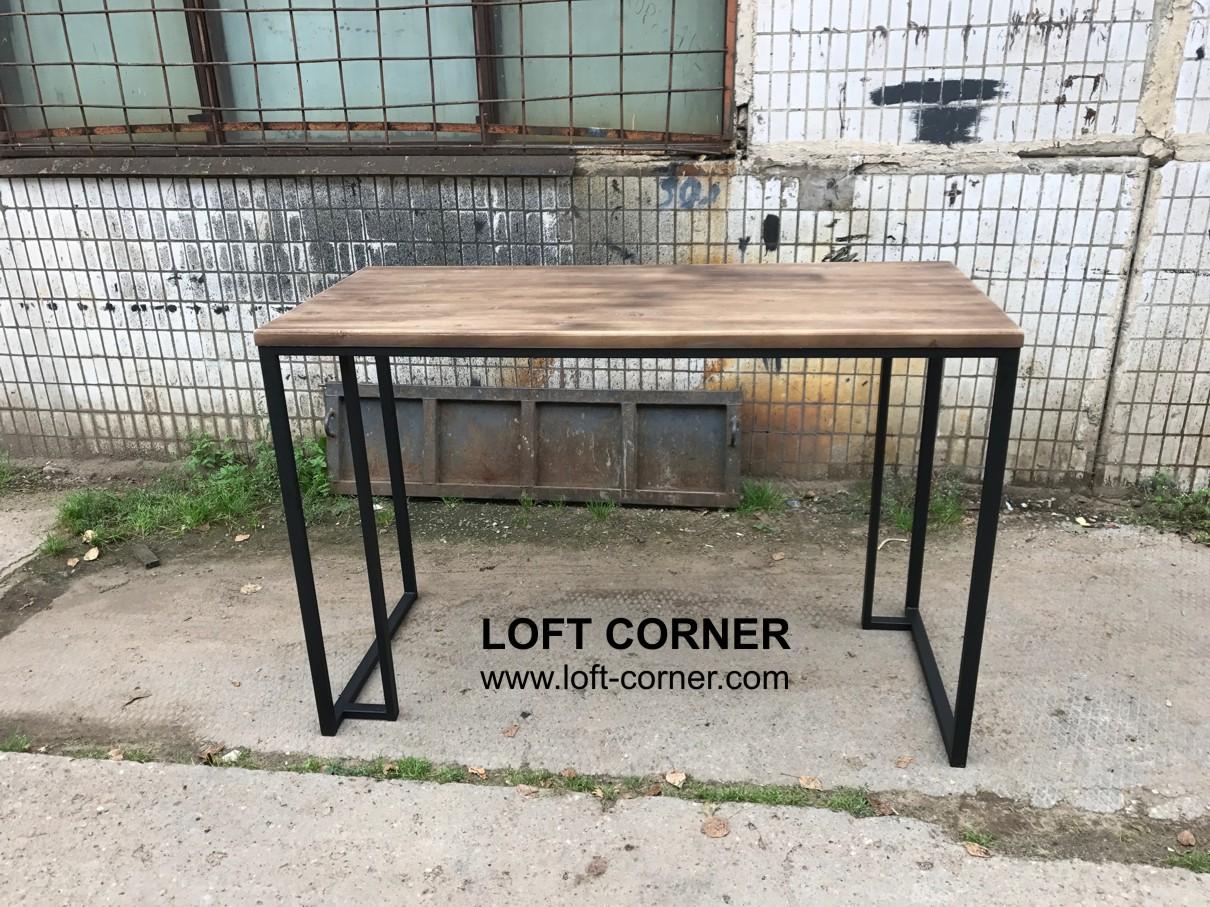 Большой барный стол лофт, барная мебель лофт, барные стойки лофт, мебель для ресторана лофт, мебель