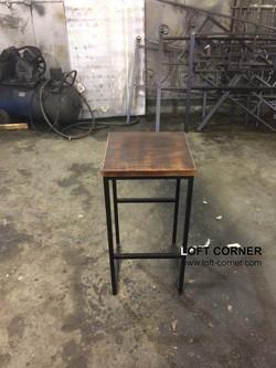 Барный стул лофт из стали и дерева, мебель для баров и ресторанов, мебель кафе, производство мебели
