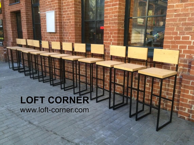 Барные стулья Light back от компании LOFT CORNER, мебель для баров ресторанов, мебель кафе, мебель л