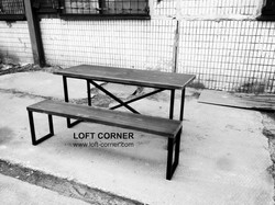 Стиль лофт, столы для ресторана, Loft мебель купить можно в LOFT CORNER, ресторан стол, мебель бар