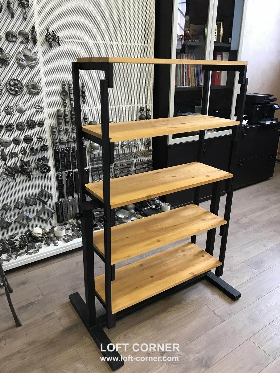 Стол, который трансформируется в стеллаж, компактный стол-стеллаж, удобное решение для маленьких пом