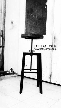 Барный стул лофт с регулируемым сиденьем, мебель лофт_edited