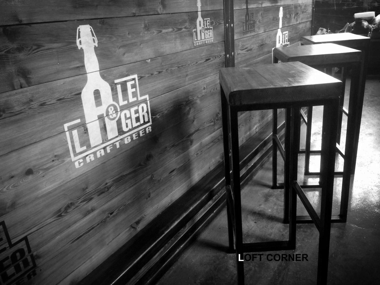 Барный стул в стиле лофт для бара ресторана кафе