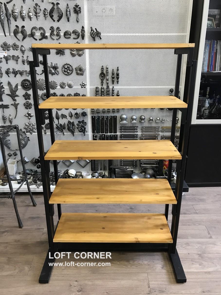 Производство стеллажей лофт, стеллаж трансформируется в стол, стол-стеллаж, стол-трансформер лофт, л