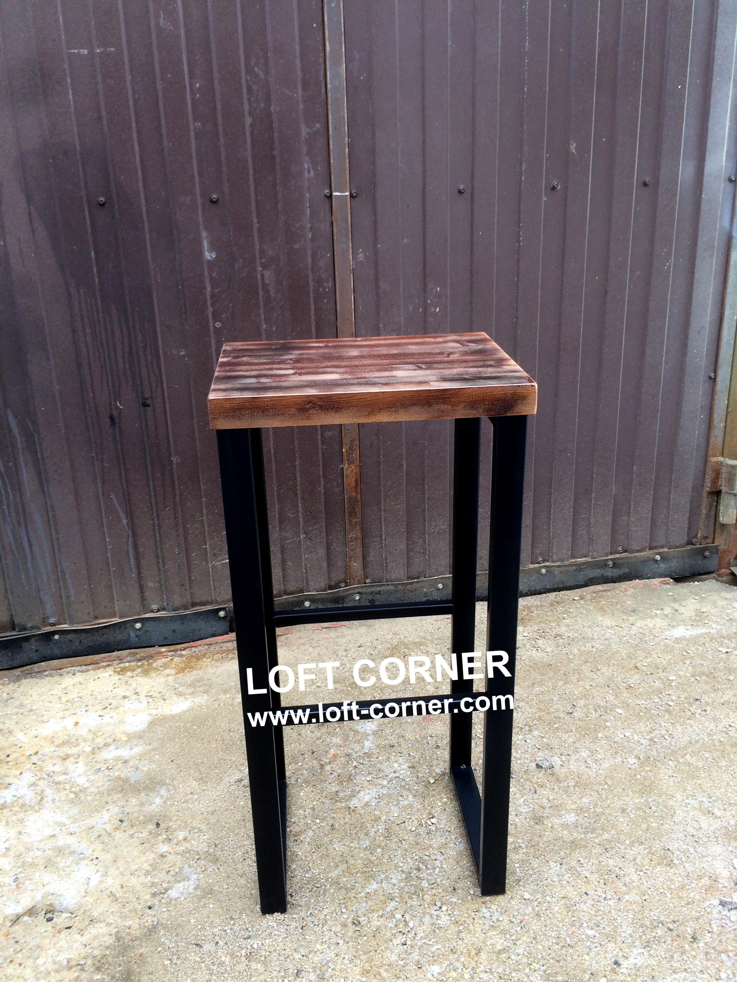 Барный стул индастриал, барный табурет, мебель лофт, производство мебели индастриал лофт
