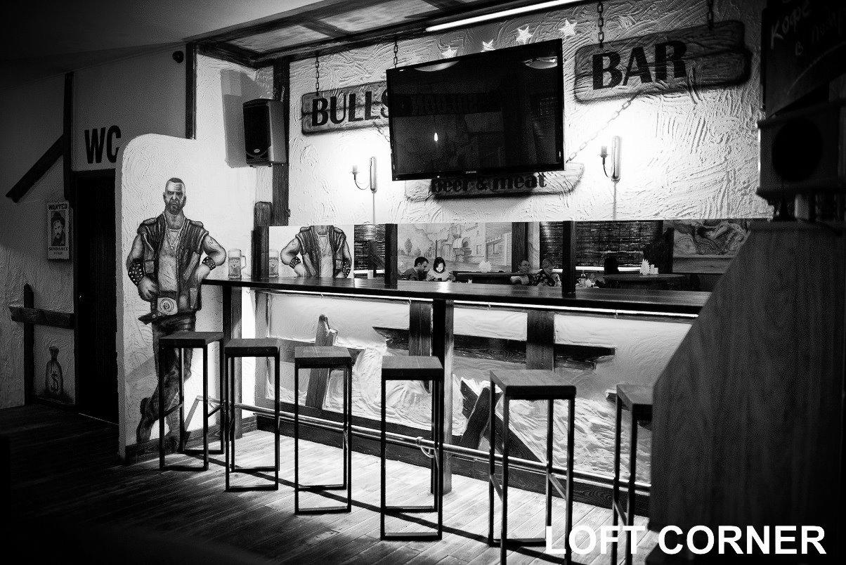 барные стулья в стиле индастриал, лофт для ресторана, бара, кафе, загородного дома, аппартаментов